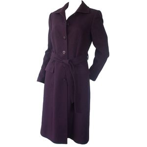 Tahari Jackets & Coats - Tahari Arthur S. Levine Purple Wool Trench Coat 4